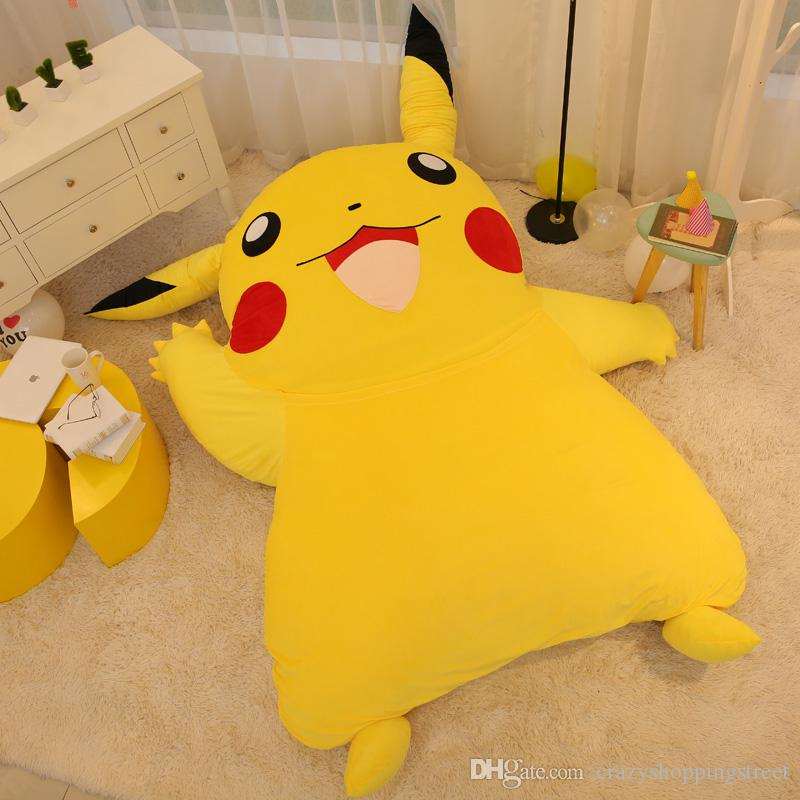 2019 japan anime pikachu soft plush giant bed carpet pikachu tatami mattress sofa nice birthday. Black Bedroom Furniture Sets. Home Design Ideas
