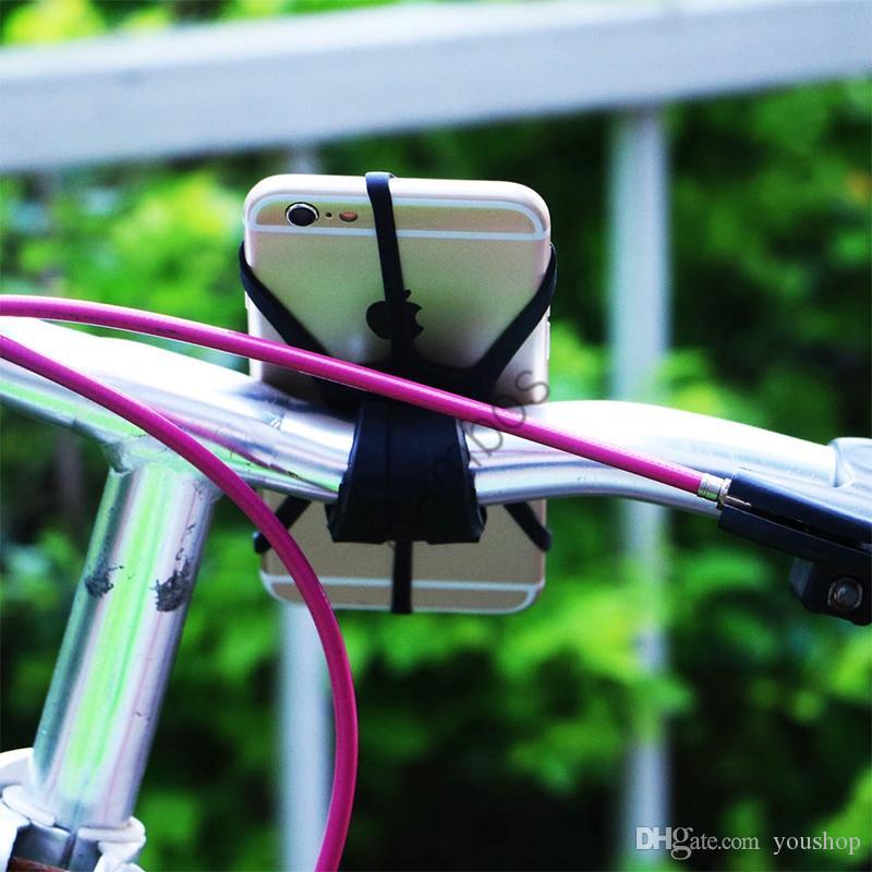 Universal Fahrrad Lenkerhalterung Silicon Band Tie Strap Holder für iPhone für Samsung für LG