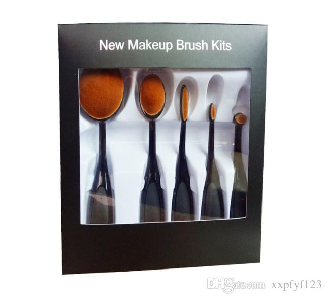 Makeup Oval Brushes kit Best Blending Brushes Powder Face Brushes Foundation Eye Shadow Brush Soft Mermaid Toothbrush Cosmetic Tools b687