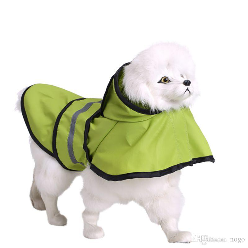 2017 Pet Köpek Yağmurluk Ceket Giysileri Köpek Köpek Suya Dayanıklı Hoodie Raincoat XS-XXL