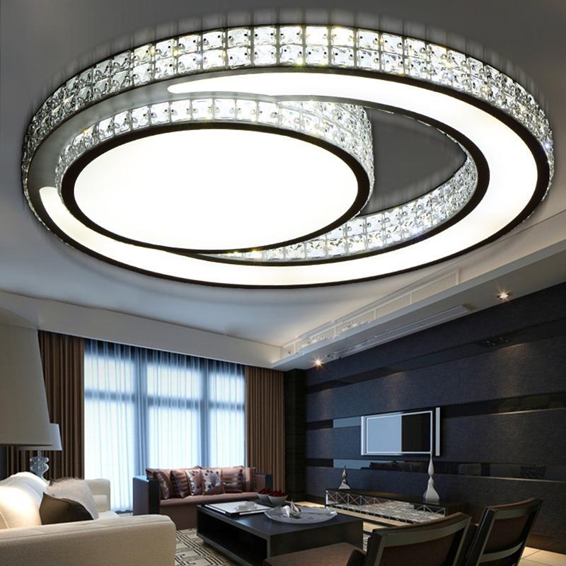 Fantastisch Großhandel Heiße Kristall Moderne Led Deckenleuchten Für Wohnzimmer  Schlafzimmer Hause Innendekoration Führte Deckenleuchte Beleuchtung  Leuchten Von ...