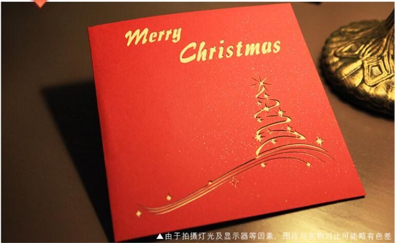 Amato Auguri di Natale fatti a mano schede 3D pop-up biglietti di auguri  HS08