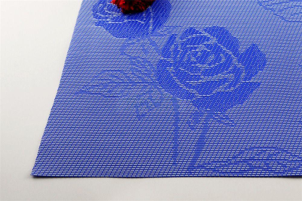 JANKNG 4 шт. / лот цветочный стол коврик теплоизолированный ПВХ романтический Роза любовник Pad Placemat кухня посуда столовая коврик стол коврик