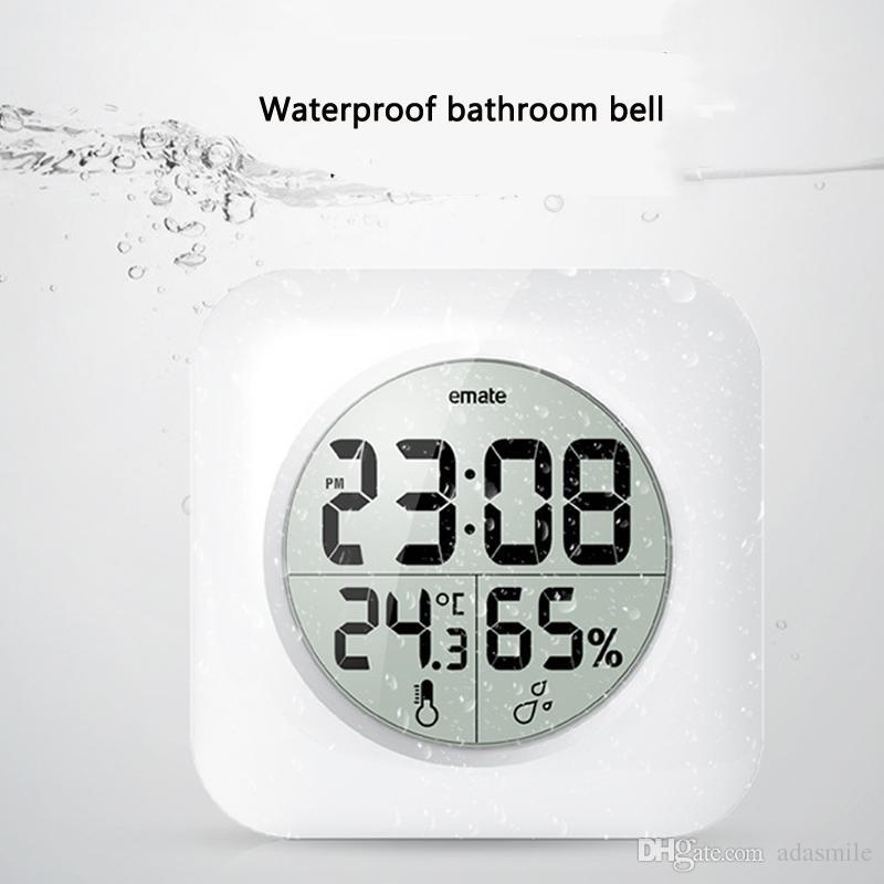 Großhandel Digitale Badezimmer Uhr Wasserdicht Relogio De Parede ...