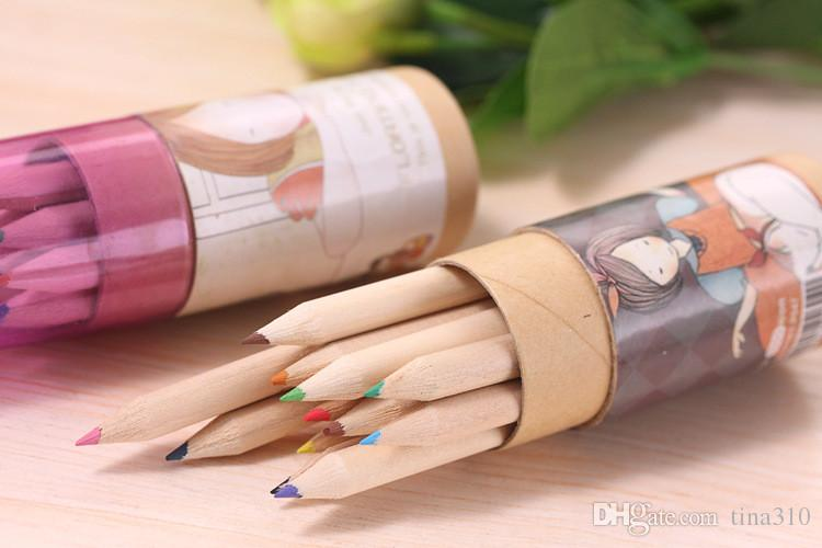 Secret Garden Coloring Bleistifte Enchanted Forest Malerei Stifte Buntstifte Kreatives Schreiben Werkzeuge 12 farben Buntstifte IB279