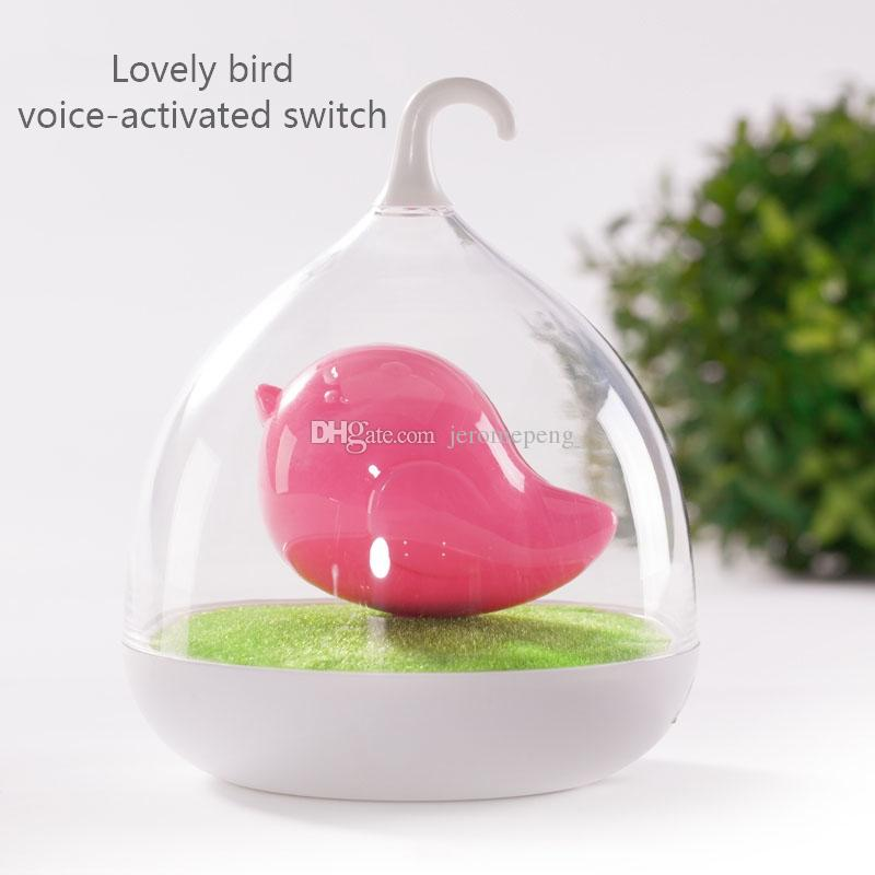 Birdcage LED Night Light Touch Sensor Voice-Activated Switch Portable USB Rechargeable Outdoor Indoor Nightlights Gift for children