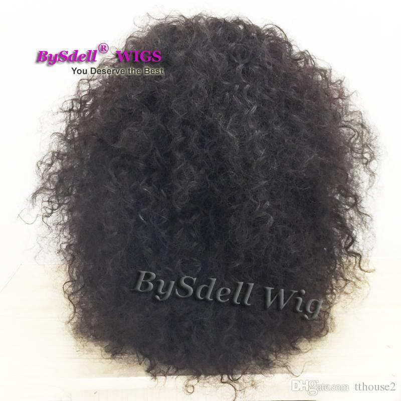 جديد وصول كبير الأفرو مجعد شعر مستعار أسود امرأة موجة الطبيعية تصفيفة الشعر الرباط الجبهة الباروكات للنساء السود