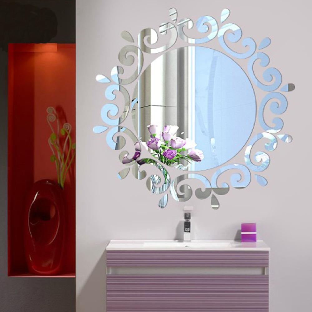 3d Mirrorlike Plastic Bathroom Wall Mirror Like Mirrored Decorative ...