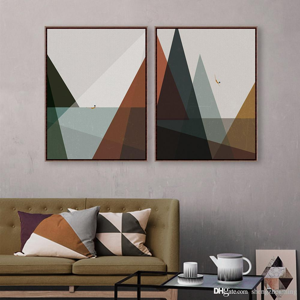 2018 2 Panel Modern Playing In The Sea Kids Picture Hipster Bedroom Wall  Art Abstract Poster Prints Canvas Paintings Decor Gifts From Shengzhenming,  ...