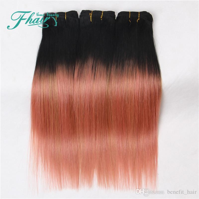 8a ombre hair extensions 1brose gold ombre human hair 100gpcs see larger image pmusecretfo Choice Image