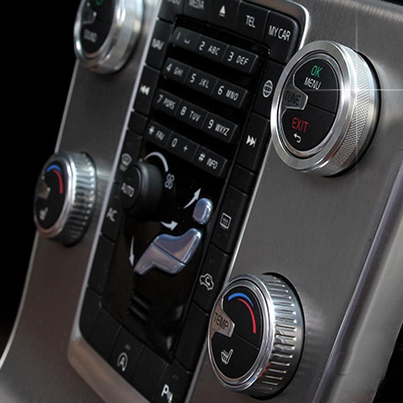 Acheter 4x Boutons Argentés Pour Climatiseurs Volvo S60