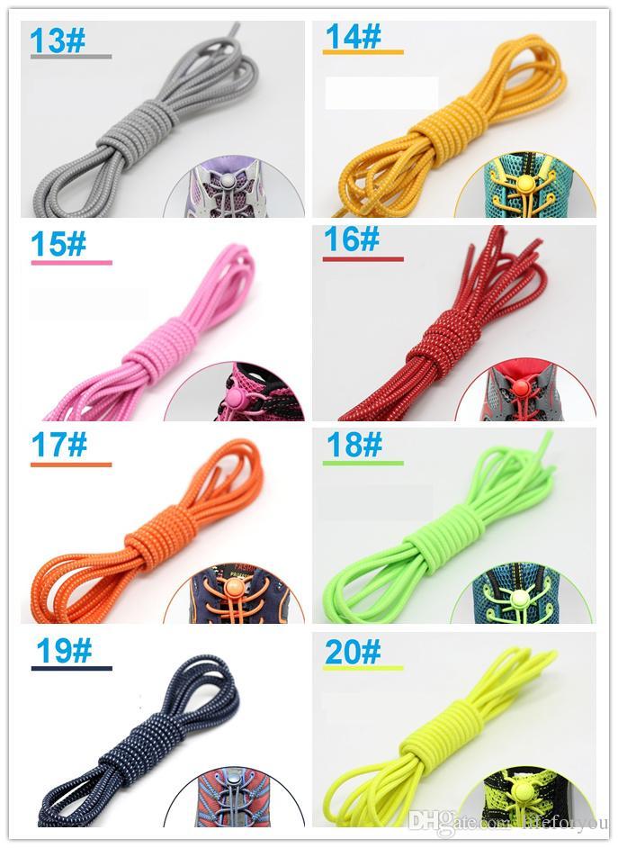 tembel ayakkabı bağcıkları kilitleme ayakkabı bağcığı yok kravat ayakkabı bağcıkları Yeni yaratıcı elastik kilitli ayakkabı bağı emniyet elastik dantel, 20 renk seçmek için