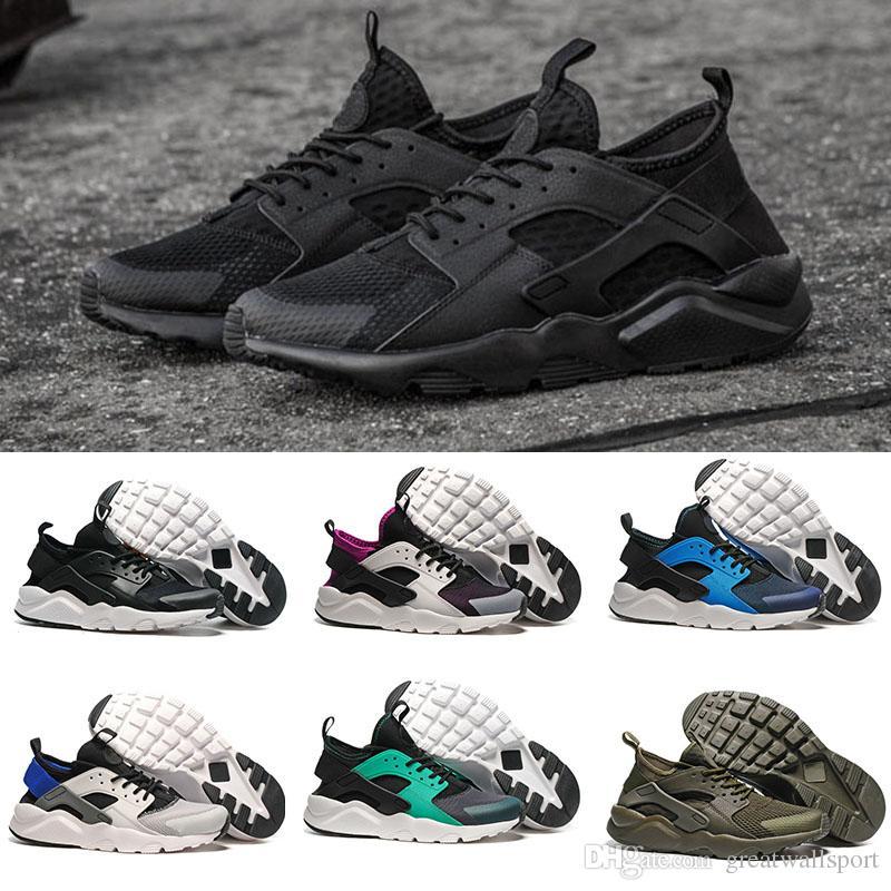 1c4fed9a0f9d Acheter 2017 Nike Air Huarache 4 Id Custom Breathe Chaussures De Course  Pour Homme Femme