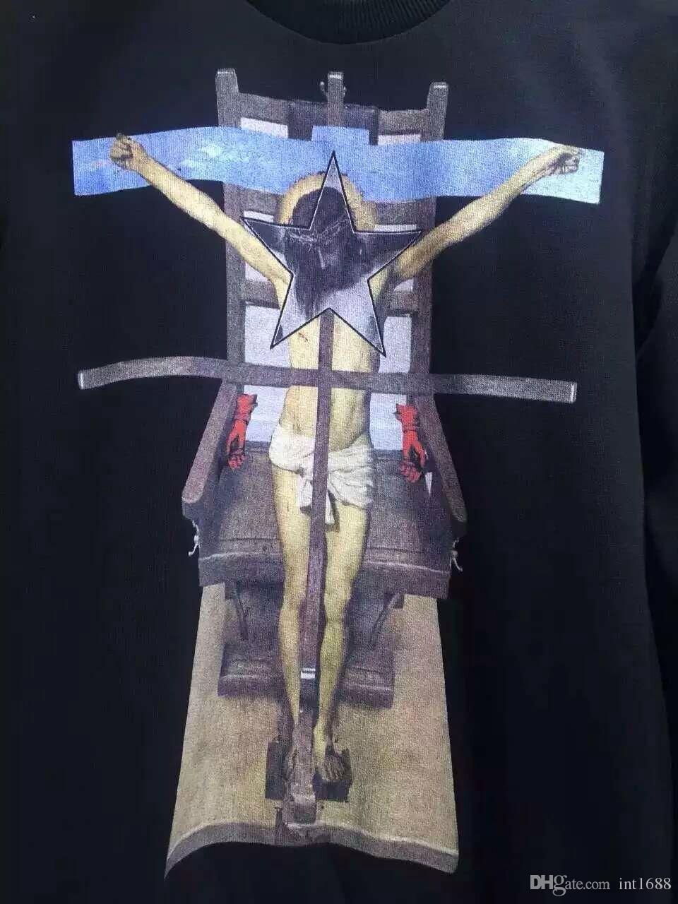 2016 جديد أزياء الرجال ماركة يسوع خمس نجوم الرجال البلوز هوديي القطن طويل الأكمام الرجال الرياضية هوديي البلوز