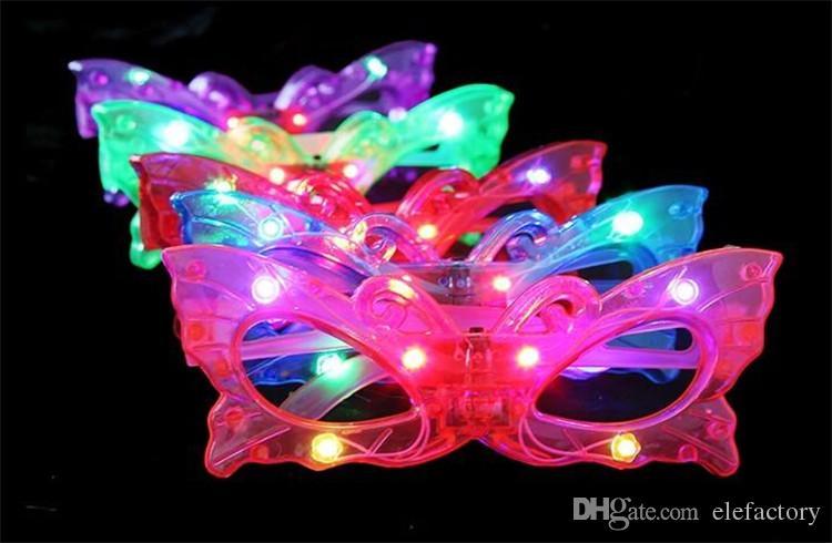 Compre Mariposa Led Parpadea Gafas Iluminar Hasta Rave Juguetes Para ...