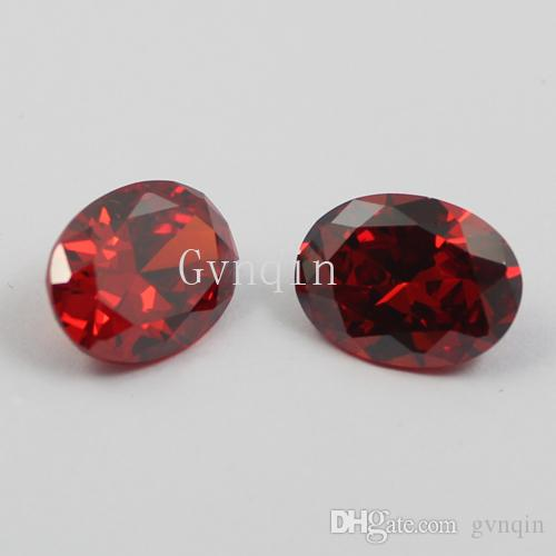 3x5mm-12x16mm Cubic zirconia Machine Cut garnet oval loose CZ stones from China Wuzhou