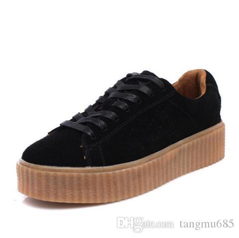 Puma Rihanna X Wildleder Creepers Lässige Schuhe Alles Rot