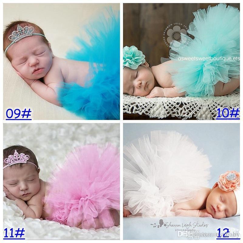 Новорожденная девочка пачка юбки с оголовьем наряд малыш мальчик девочка необычные костюм пряжи Photograp проп симпатичные 13 цветов выбрать