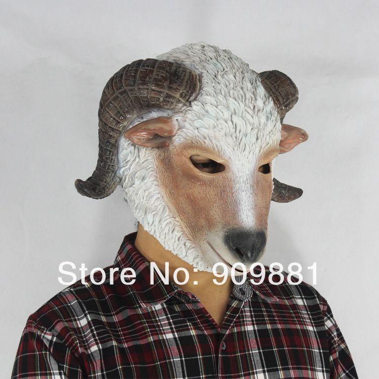 Halloween Goat Mask | Realistic Goat Latex Masks Full Head Halloween Natural Rubber Animal