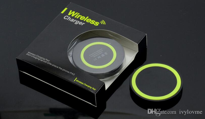 Qi Wireless Charger Cell phone Mini Charge Pad For Qi-abled device Samsung nokia htc LG cellphone with retail package