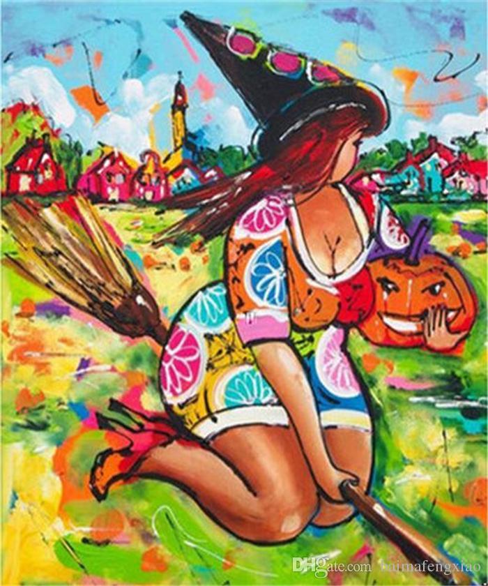 Yeni DIY 5D Mozaik Elmas Boyama Çapraz Dikiş kitleri karikatür şişman kız tam Reçine yuvarlak Elmas Nakış İğne Ev Dekor yx0091