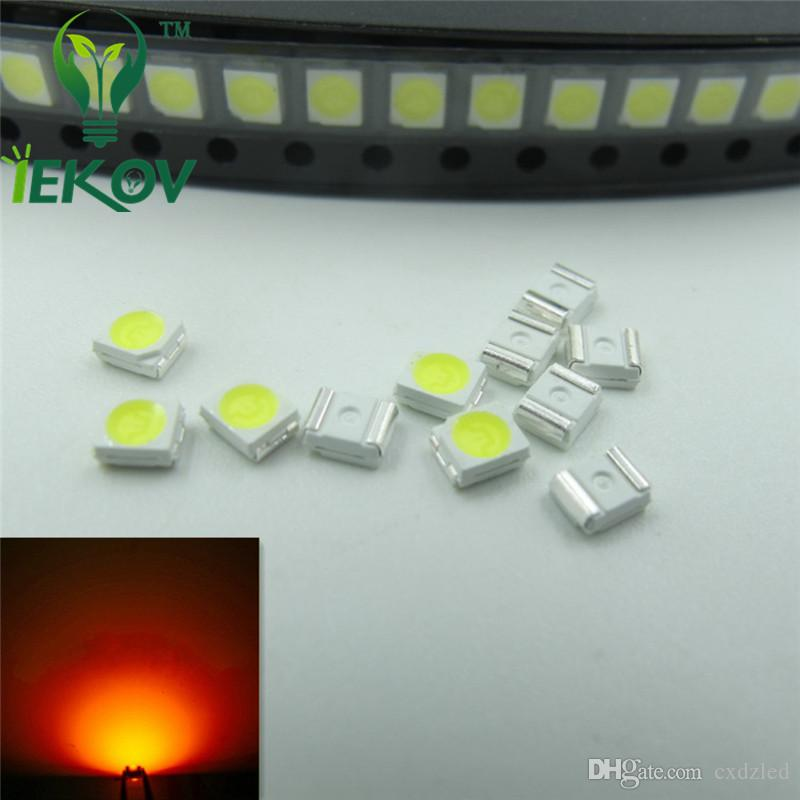 PLCC-2 Orange Amber LED 1210 3528 SMD Ultra Bright Light Emitting diodes 1.8-2.1V 585-595nm SMD/SMT Chip lamp beads