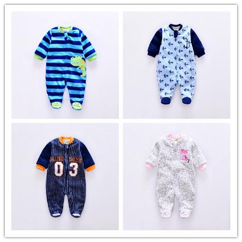eb27a89811ab Baby Rompers Winter Jumpsuit Cartoon Animal Dinosaur Rompers Coral ...