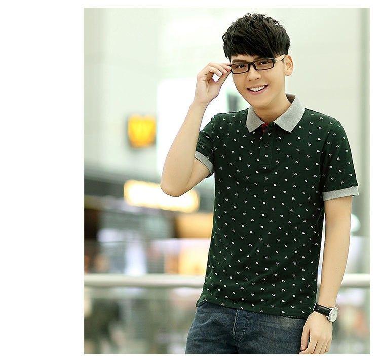 Novos Homens Impresso Camisas Polo 100% Algodão de Manga Curta Camisas Polo Gola Masculina Camisa Polo M-3XL