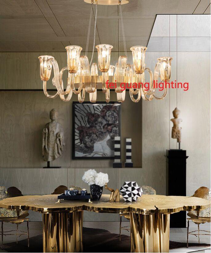 Yaratıcı post-modern ışık lüks basit oturma odası avize ev İskandinav tarzı yatak odası atmosfer kişilik cam restoran lambaları