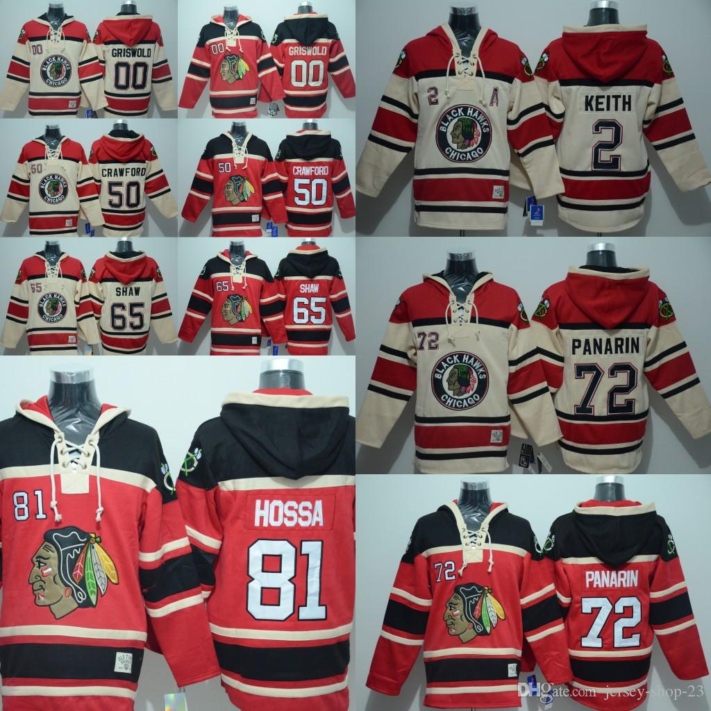 Mens Chicago Blackhawks Hoodie  00 Clark Griswold 2 Duncan Keith 50 Corey  Crawford 65 Shaw 72 Artemi Panarin Hockey Jerseys UK 2019 From Jersey Shop  23 5817d78c8