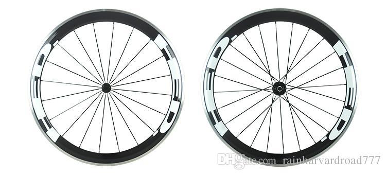 2016 HED carbon bike wheels 50MM alloy carbon wheelsets Aluminium alloy brake surface edge carbon wheels 20 24 holes white HED letter