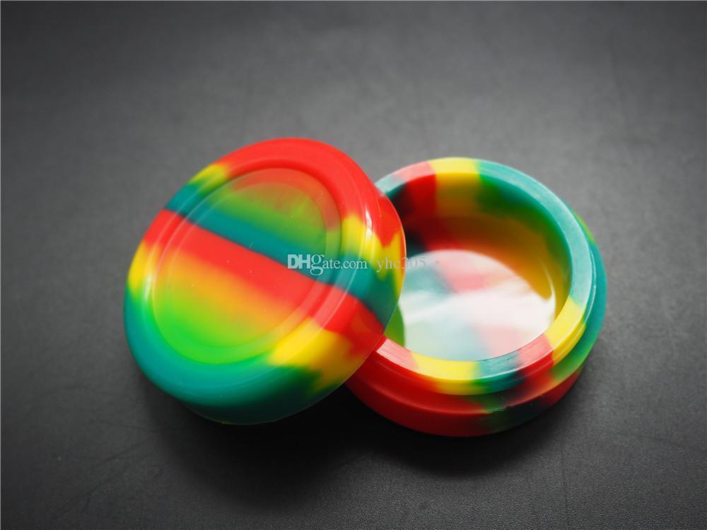 100X el más nuevo contenedor de cera de silicona de alta calidad / contenedor de cera de silicona 11ml