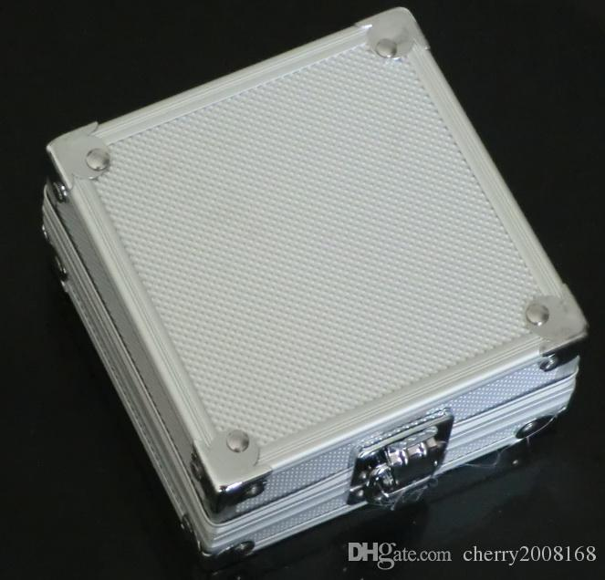 タトゥーガン機のための1ピース合金アルミ銀ケースボックス供給キット
