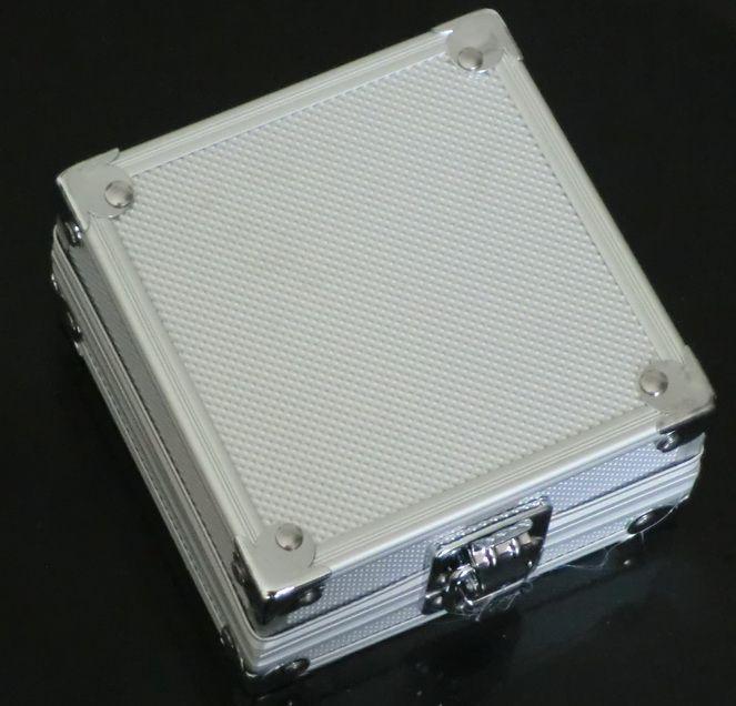 5 stks Groothandel Silver Tattoo Machine Case Aluminium Case Doos voor Tattoo Gun Machines Supply Kit