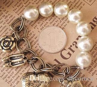 Coração Pérola Flor Mulheres Charm Bracelet New Charme Jóias Venda Quente DHL Frete Grátis Mulheres Jóias