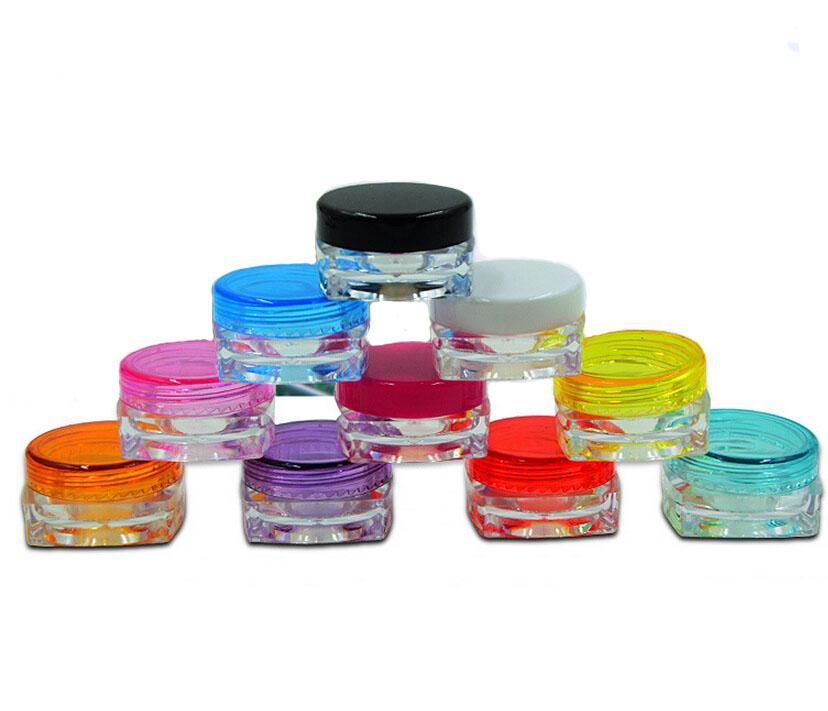 Recargable Mini 5g Cosmético Frasco vacío Pote Sombra de ojos Maquillaje Crema facial Bálsamo labial Contenedor Botella / Precio mayorista