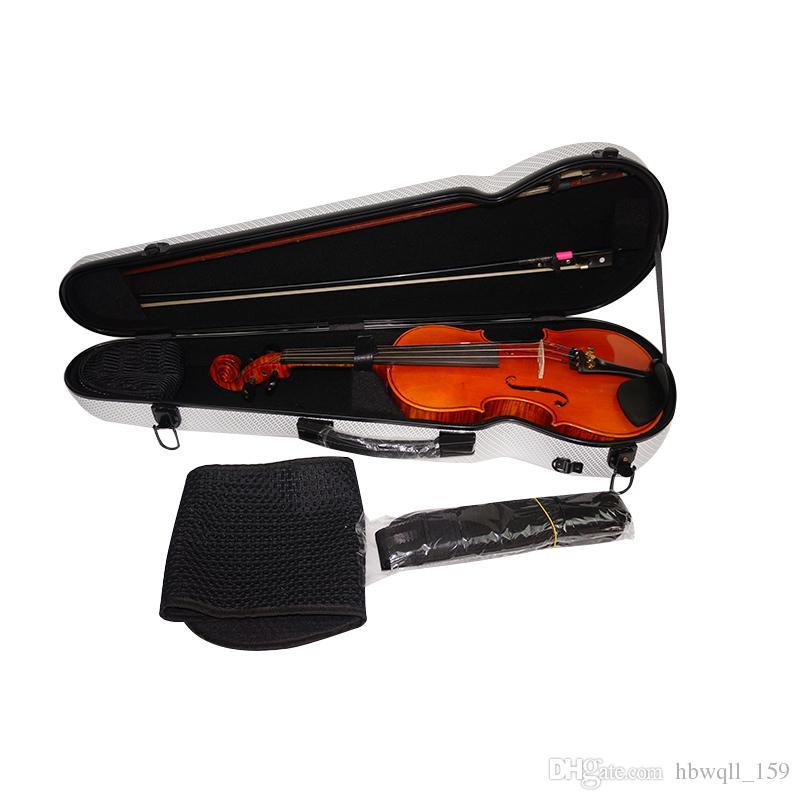 High grade composite carbon fiber 4/4 violin case beautiful blue