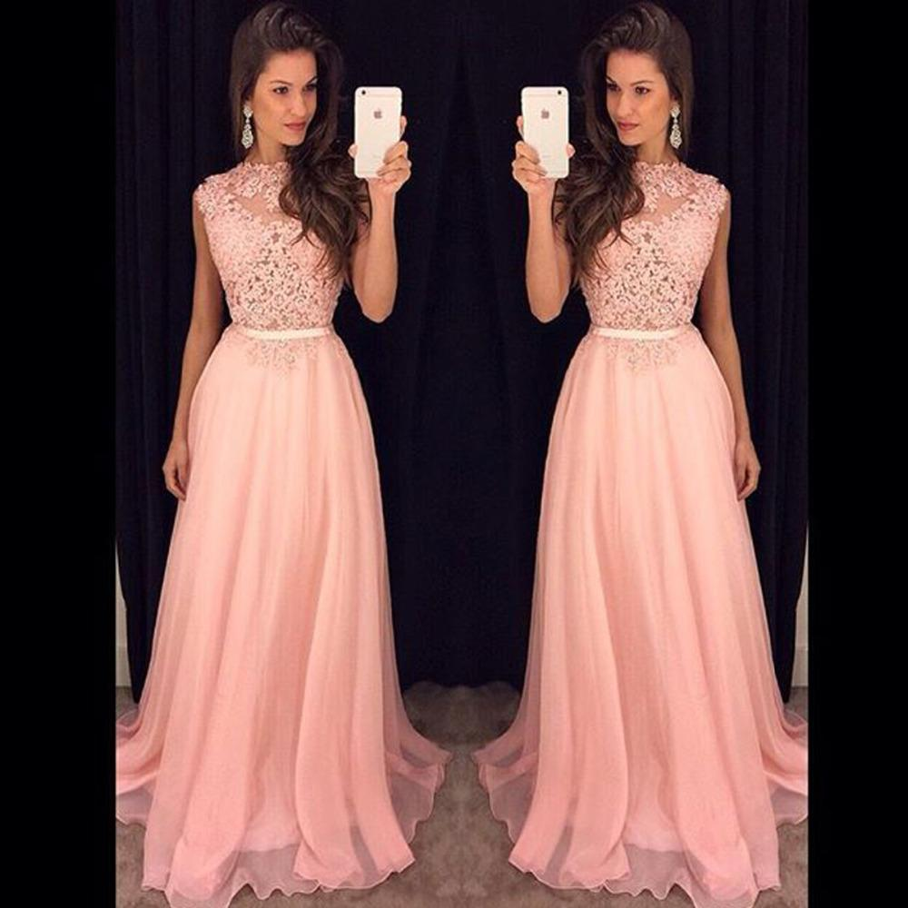 0c34524bcf Graceful Light Pink Long Prom Gowns With Appliques Draped Chiffon Women Formal  Dresses Evening Wear Custom Made Cheap Party Gown Mermaid Prom Dresses  Under ...