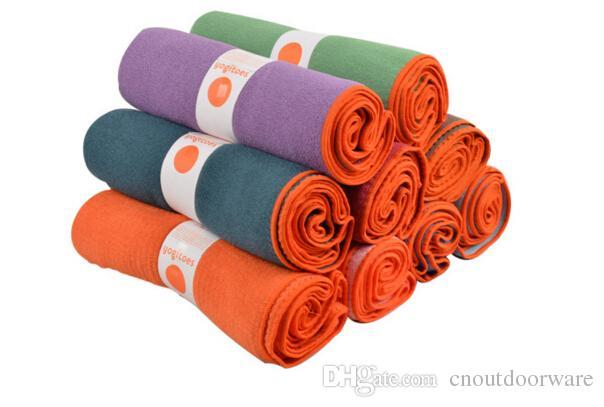 Yogaitoes skidless اليوغا حصيرة منشفة اللياقة البدنية ممارسة امتصاص العرق ستوكات سيليكون الحبوب بيلاتيس الرياضية بطانية ناعمة