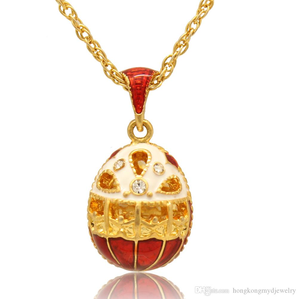 Crystal hollow flower pendant faberge egg necklace hand enamel crystal hollow flower pendant faberge egg necklace hand enamel colors russian style charm for easter day faberge egg pendant easter egg pendant egg pendant aloadofball Images