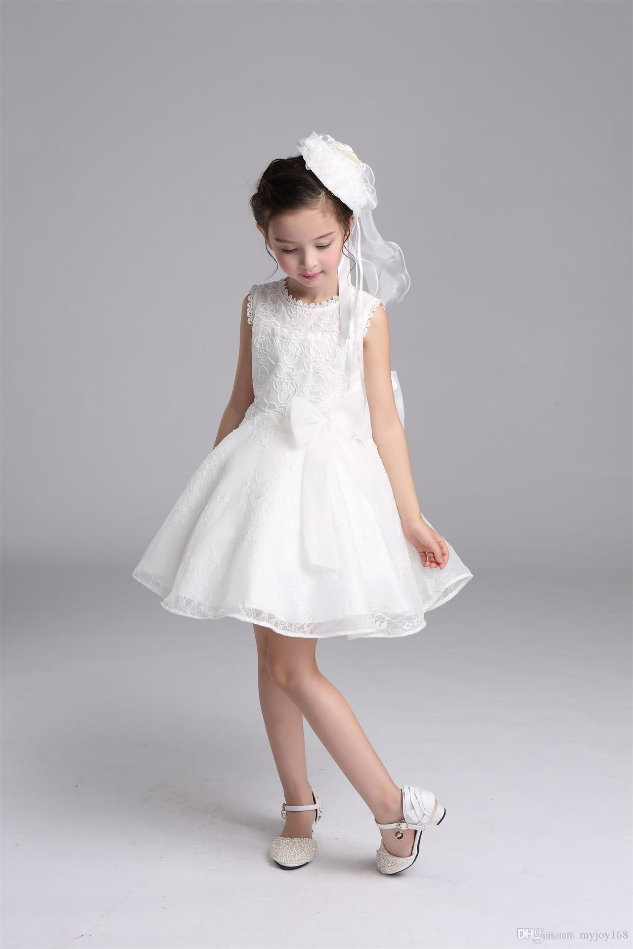 White Flower Girl Dresses For Baby Lauren Goss