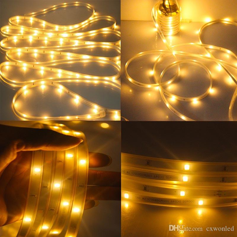 Solar Rope Lights outdoor 16.4ft 100LED Solar Strip Lights 2 Modes Flash steady Warm white/RGB Solar Lights Outdoor for Christmas Tree