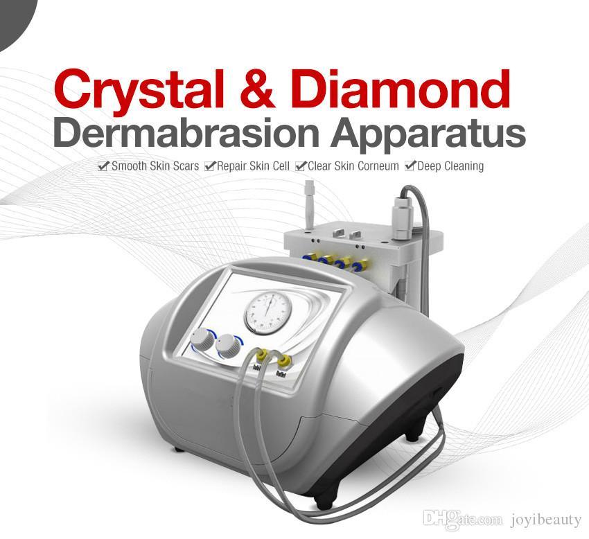 ¡2017 el más nuevo! rystal microdermabrasión y piel de diamante dermabrasión micro cristal dermoabrasión piel peeling máquina facial eliminación de la cicatriz