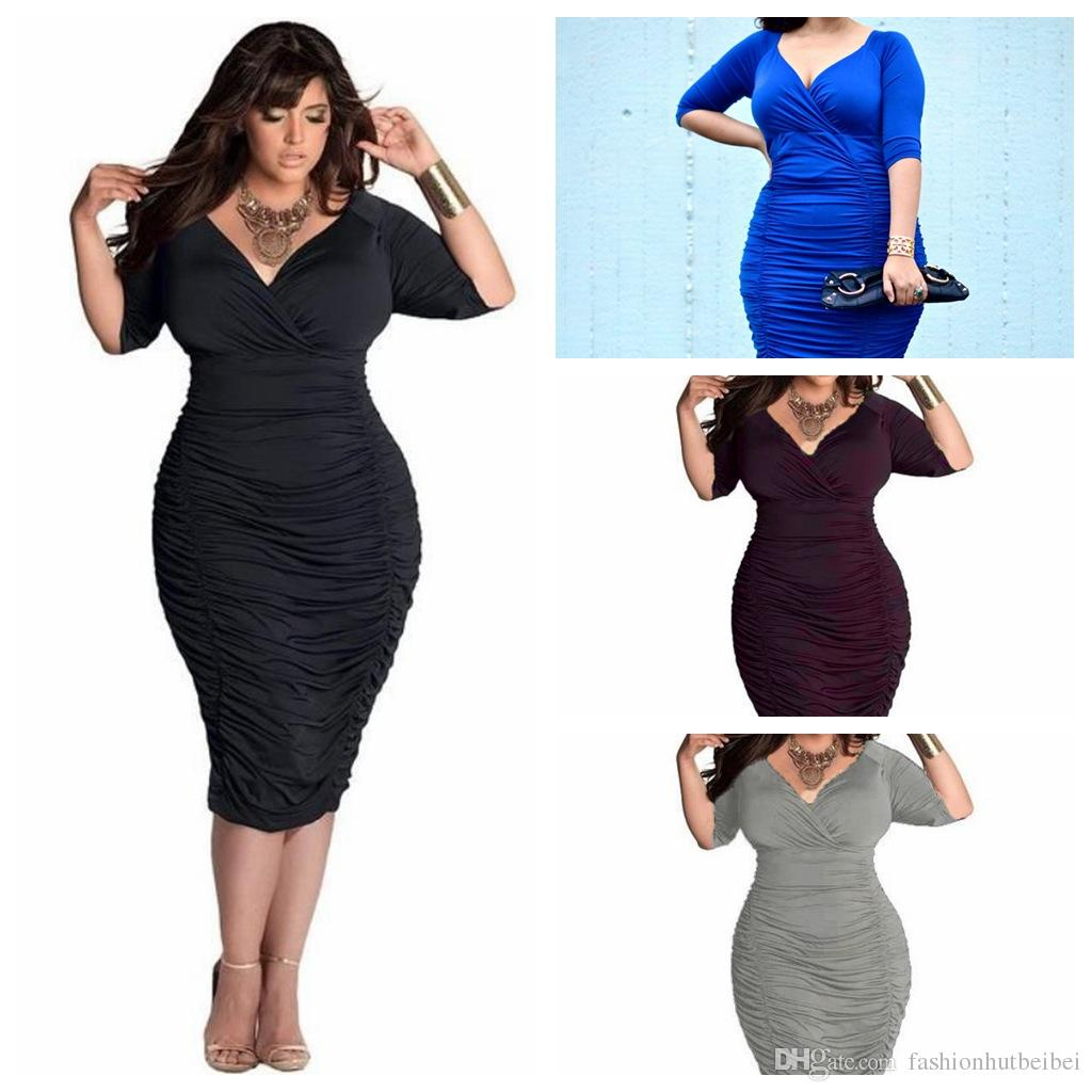 2018 2016 hot sell plus size women sexy dress deep v bodycon girl