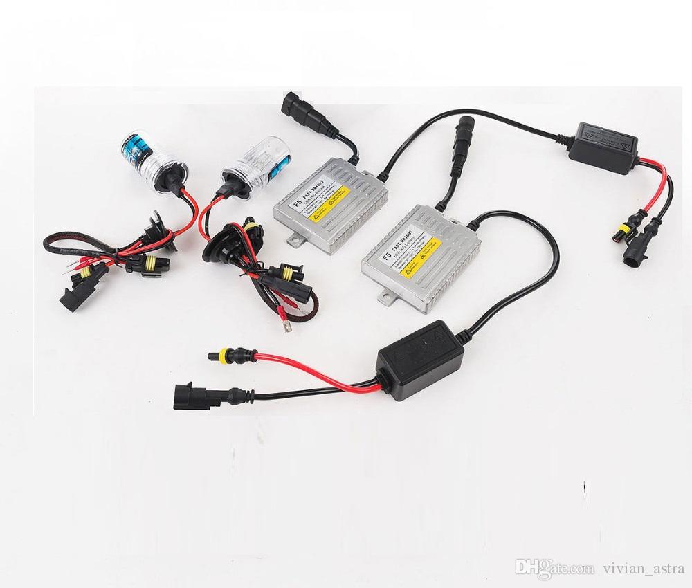0.1 الثانية H7 زينون hid kit بداية سريعة الصابورة 12 فولت 55 واط f5 h1 h3 h4 h7 h11 9005 9006 881 d2s hid زينون مصباح المصباح سيارة