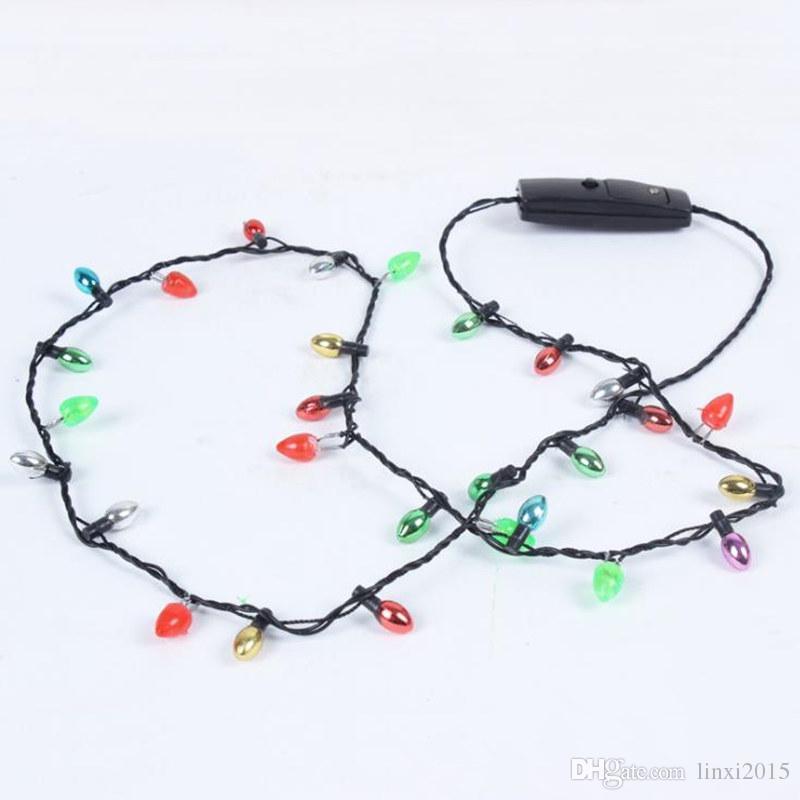 festival led necklace necklaces flashing beaded light toys christmas gift flashing necklace christmas santa led pendant necklace lighted necklaces from - Lighted Christmas Necklace