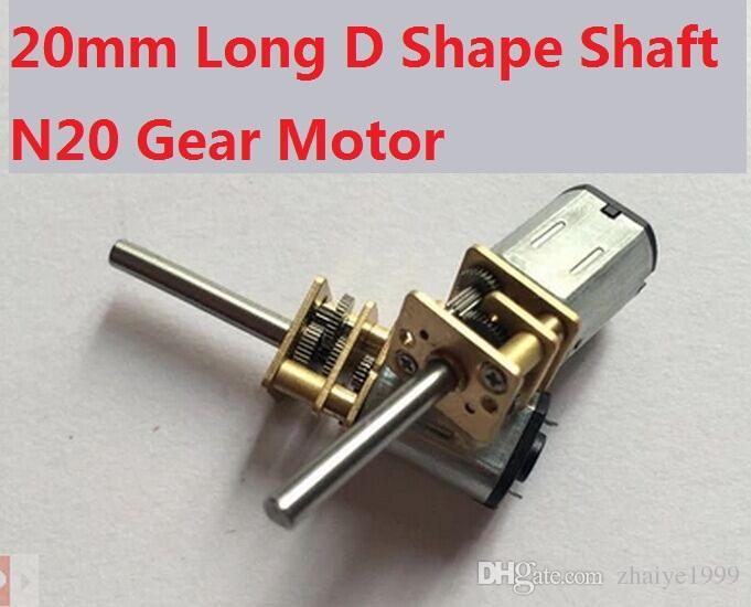 4pcs 12GAN20 DC 3-12V 15-1000RPM Gear Motor of Miniature DC Motor Metal  Gear Box With 20mm Length D Shape Shaft Diameter