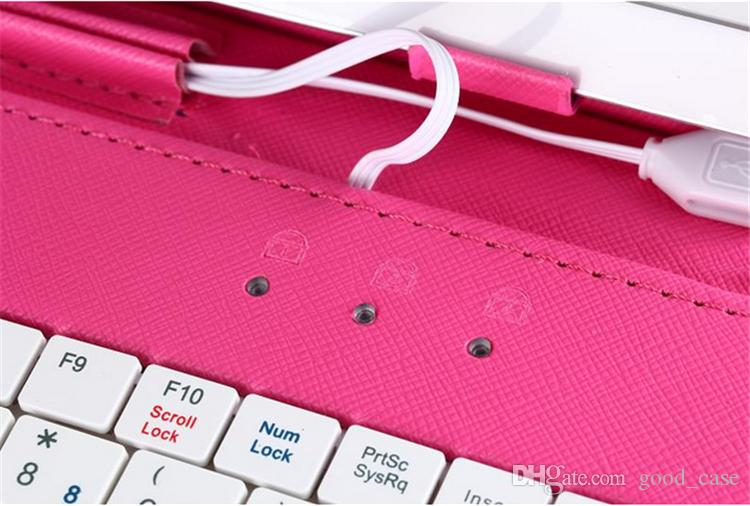 niversal 7 8 9 9.7 10.1 inch tablet PC micro keyboard PU leather case usb port stand holder flip case cover for samsung galaxy tab xiaomi