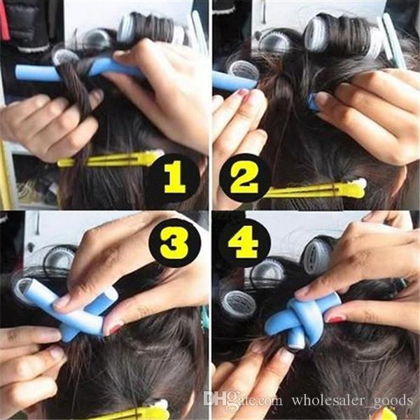 Lockenwickler Perle Baumwolle Lockenwickler Curly Hair Tool Bar Allmächtigen Schwamm Opp Beutel Verpackung haben zehn Farben ermöglichen Wahl Styling