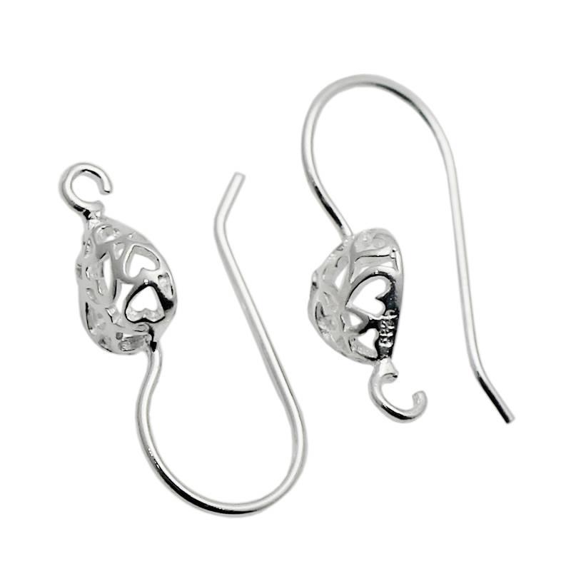 Beadsnice 925 стерлингового серебра уха провода ручной серьги выводы французский крюк ювелирных изделий делая поставки ID 34924